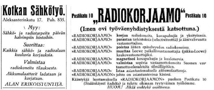 Kotkan_Sdhkctyc_Radiokorjaamo_Kymeenlaakson_Sanomat_no_129_ja_57_1928.png