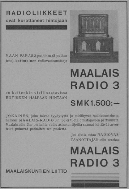 Maalaiskuntien_liitto_Maalaisradio_3_Kansakoulu_no_34-35_1931.JPG