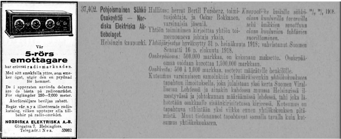 Nordiska_Elektriska_A__B__HBL_nr_77_1927__Registering_fcr_varumdrken_no_691_1918.png